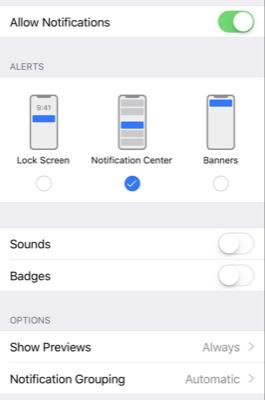 New in UNUserNotificationCenter for iOS 12
